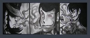 Lupin III, Jigen e Goemon Acrilico su te