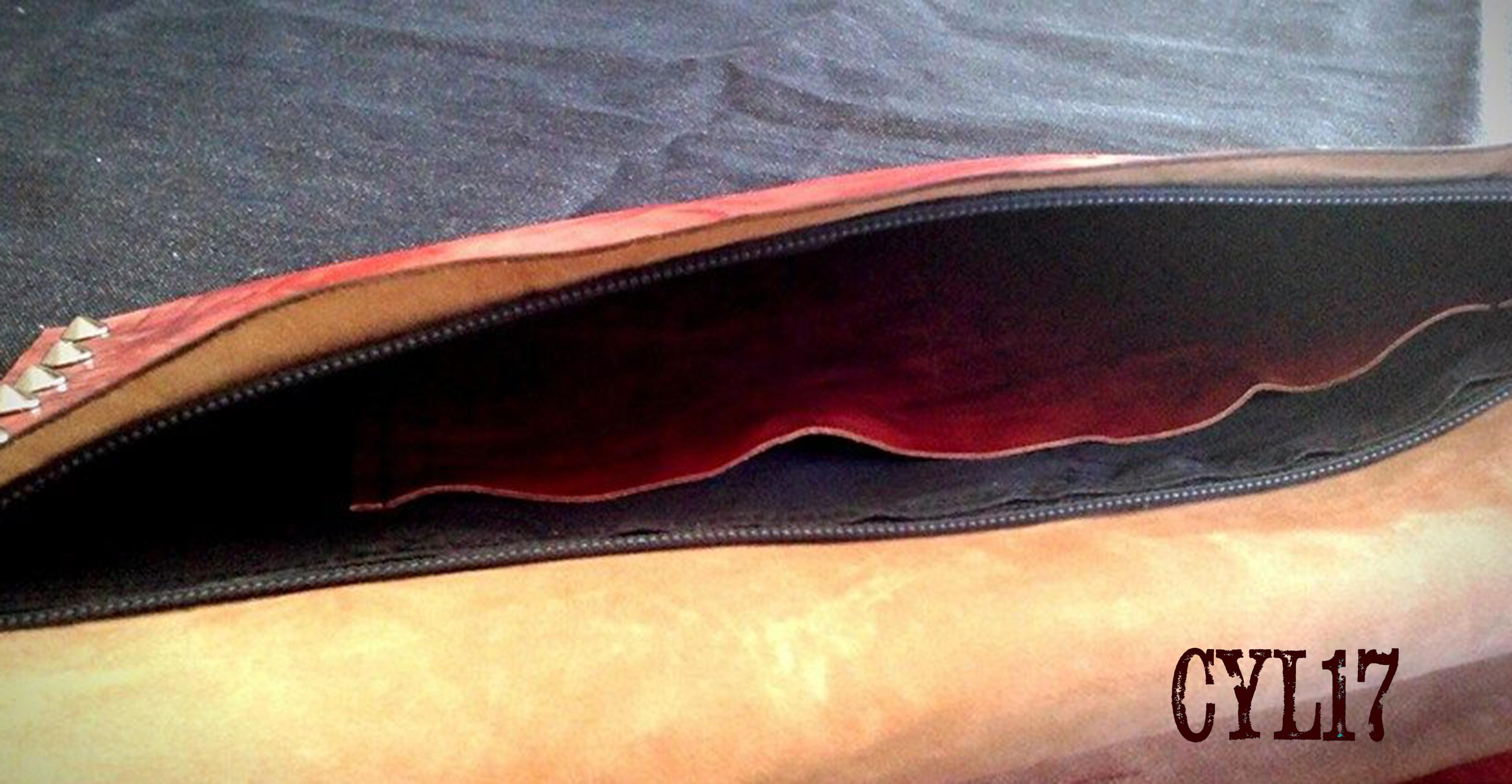 pochette pelle rossa 5