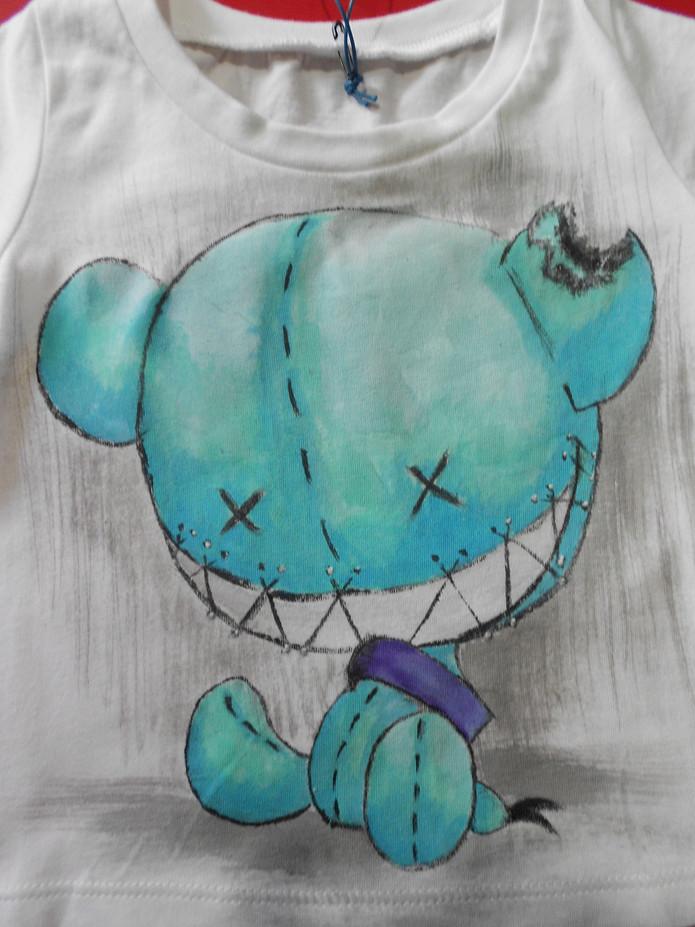 Monster puppets light blue