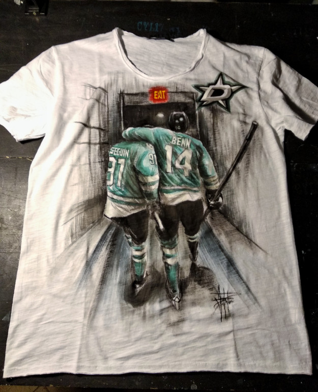 Dallas Stars_Handpainted T Shirt