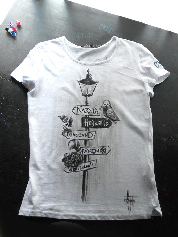 W Disney _Handpainted T Shirt