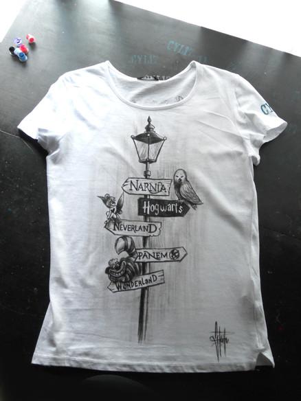 W Disney _Handpainted T Shirt
