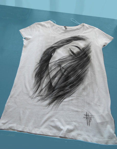 Portrait Handpainted T Shirt.JPG