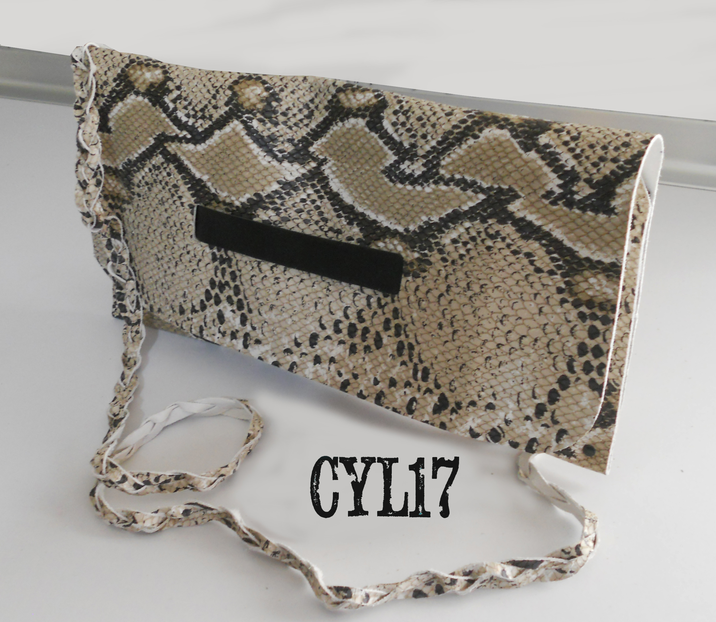 pochette bag borsa clutch  in pelle stam