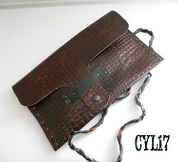 bag pochette clutch shoulderbag leather