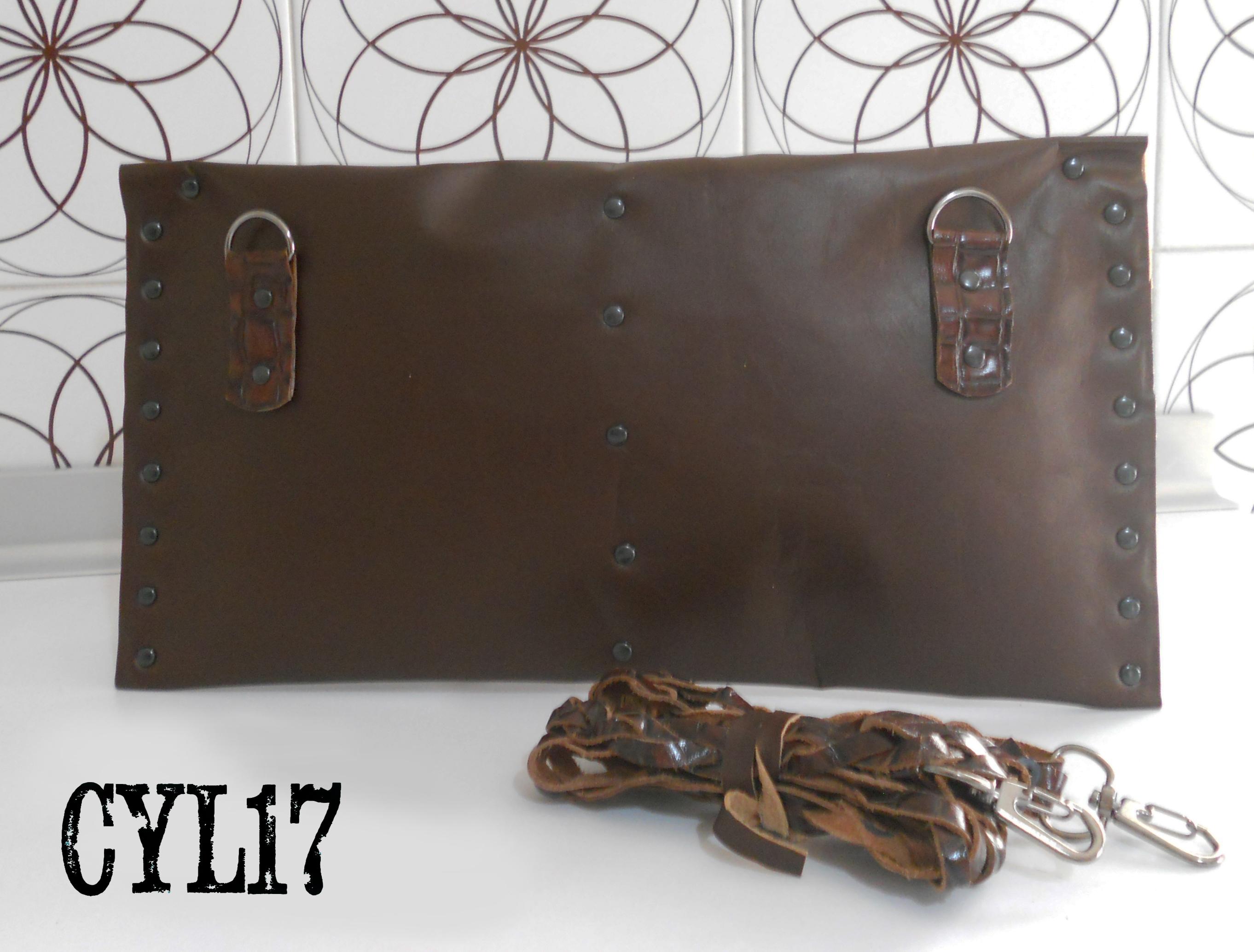 bag pochette clutch shoulderbag leather