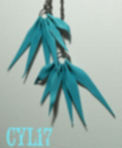 orecchini in pelle riciclata, Earrings made with recycled leather