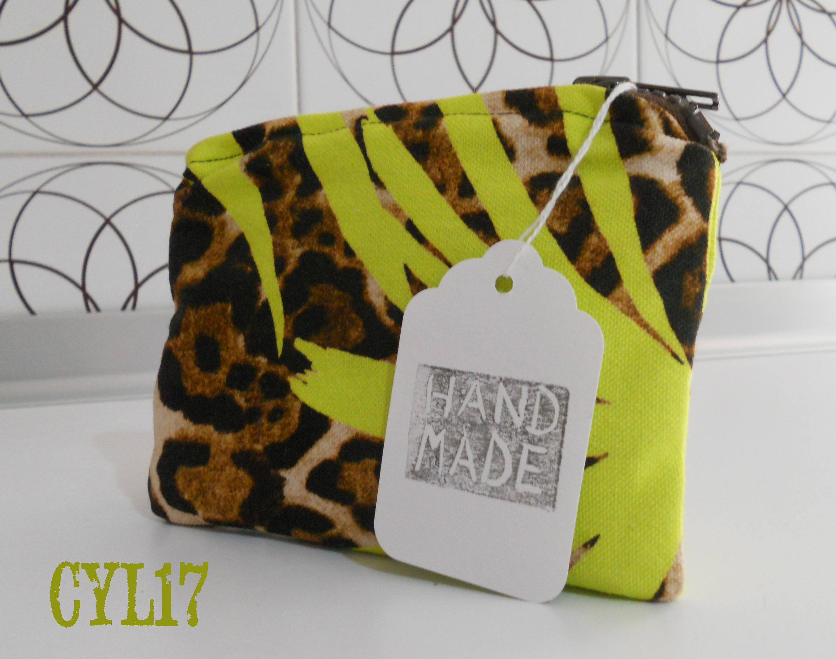 Bustina borsa piccola porta monete animalier verde lime Coin case mini bag coin purse