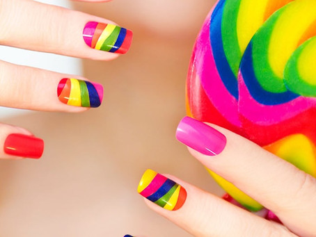 VIBGYOR Nails For Seven Colours Of The Rainbow