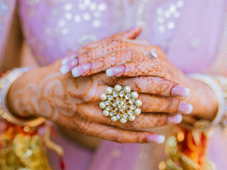 Stunning Bridal Nail Arts For An Indian Wedding