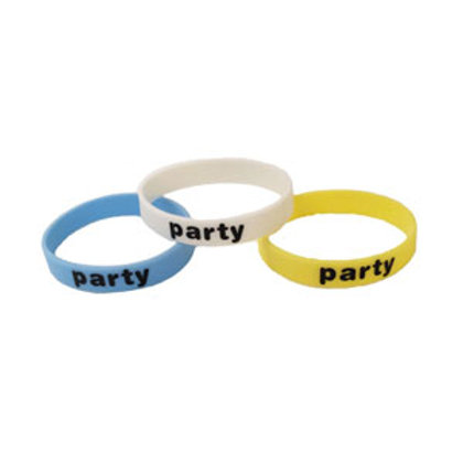 "Glow-in-the-dark Silicon ""PARTY"" Bracelet"