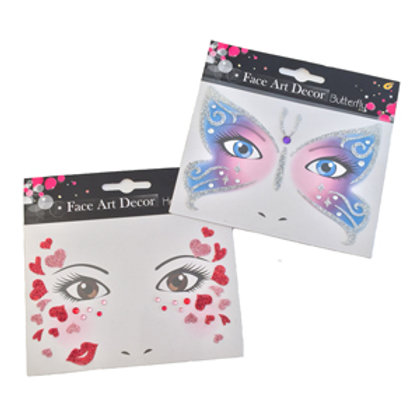 Glitter Face Stickers