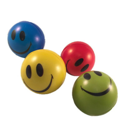 Squishy Smiley Face Stress Ball