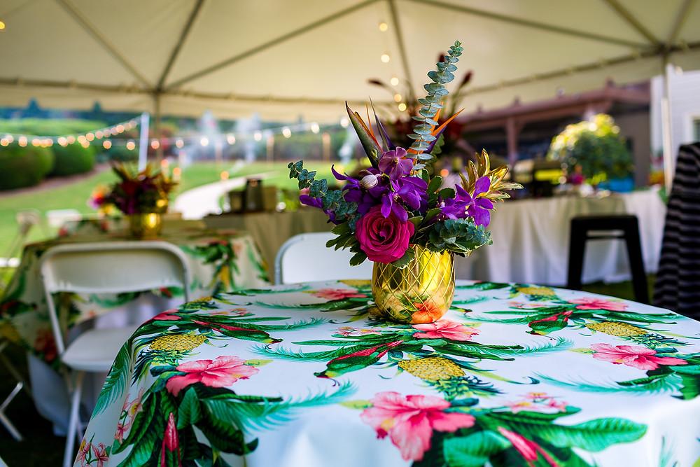 Hawaiian Inspired Floral Centerpiece