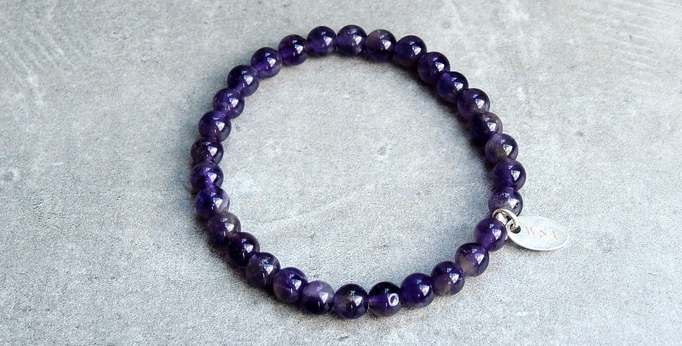 Amethyst bracelet small beads (amethist armband kleine kraal)