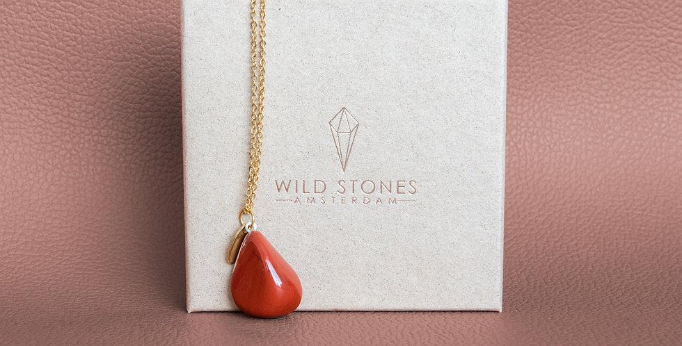 Red Jasper round necklace (Rode Jaspis ketting rond)