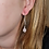Thumbnail: Rose Quartz pendant earring (Roze kwarts hanger oorbel)
