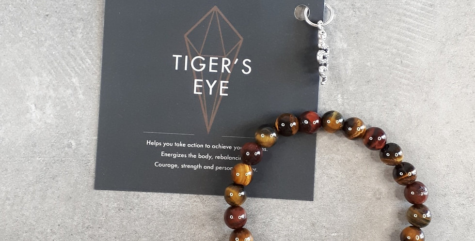 Tiger's Eye Bracelet big beads (Tijgeroog armband grote kralen)