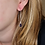 Thumbnail: Onyx pendant earring (Onyx hanger oorbel)
