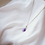 Thumbnail: Amethyst round necklace (amethist ronde ketting)
