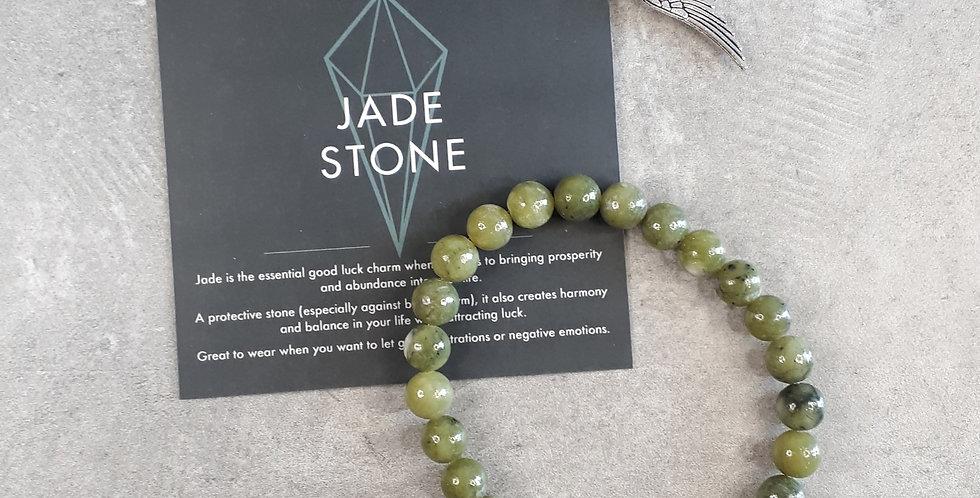 Jade Bracelet big beads (Jade armband grote kralen)