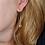 Thumbnail: Clear Quartz pendant earring (Bergkristal hanger oorbel)