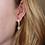 Thumbnail: Rose Quartz pendant gold earring (Roze kwarts hanger gouden oorbel)