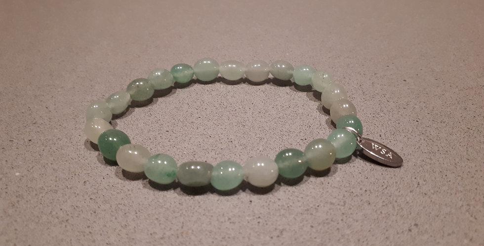 Aventurine bracelet green beads (aventurijn armband groene kraal)