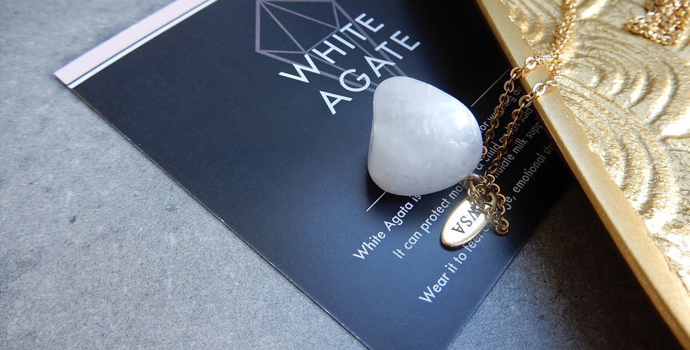 White Agate necklace (witte agaat ketting)