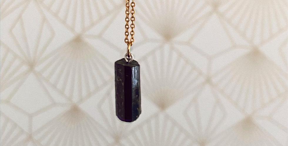 Black Tourmaline necklace (zwarte tourmalijn ketting)