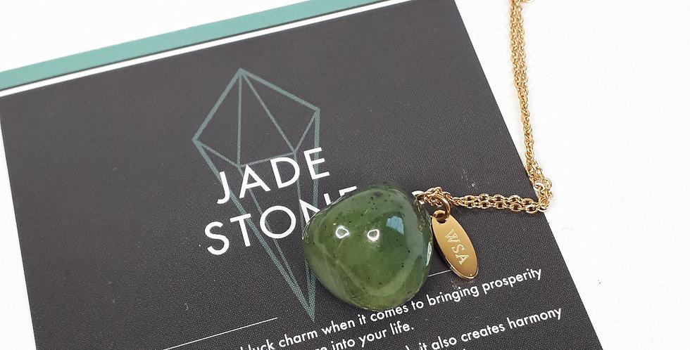 Jade necklace round (Jade ketting rond)