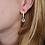 Thumbnail: Clear Quartz pendant gold earring (Bergkristal hanger gouden oorbel)
