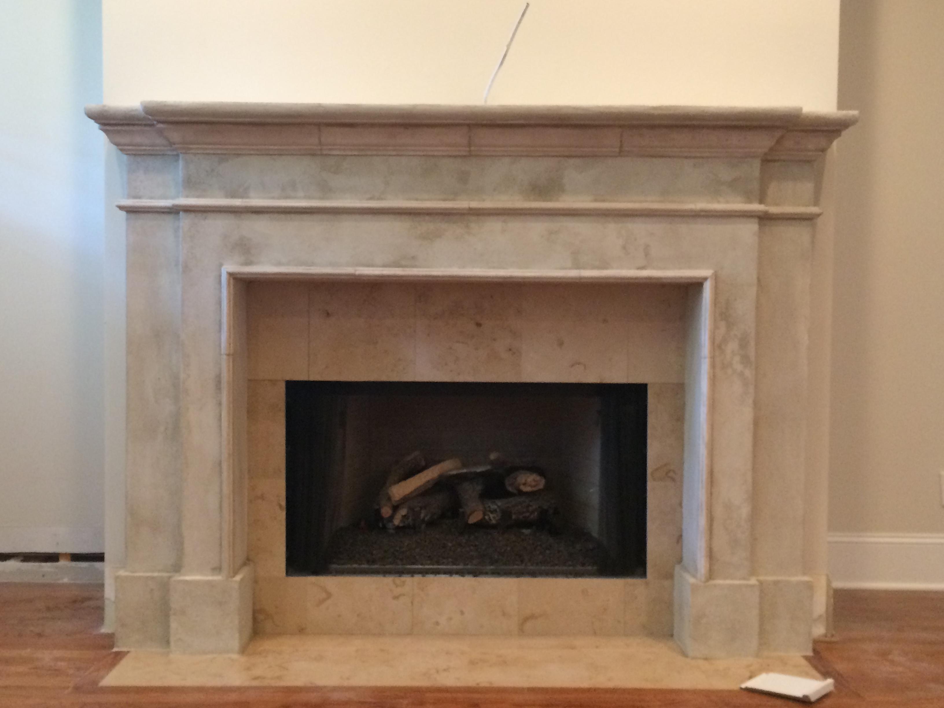 Stone Fireplace Surround Chattanooga