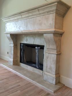 Aged Limestone Fireplace