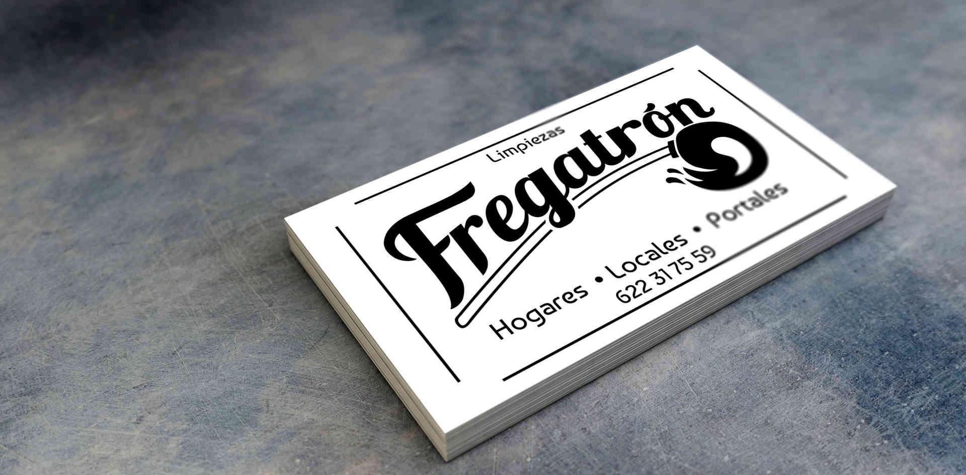 Logo y tarjetas - Fregatrón