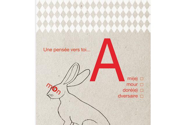 Carte postale Lapin