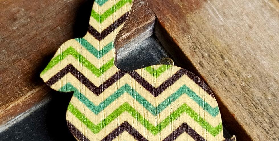 5 Lapins Vintage en bois
