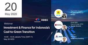 Investment and Finance  for Indonesia's  Coal-to-Green Transition