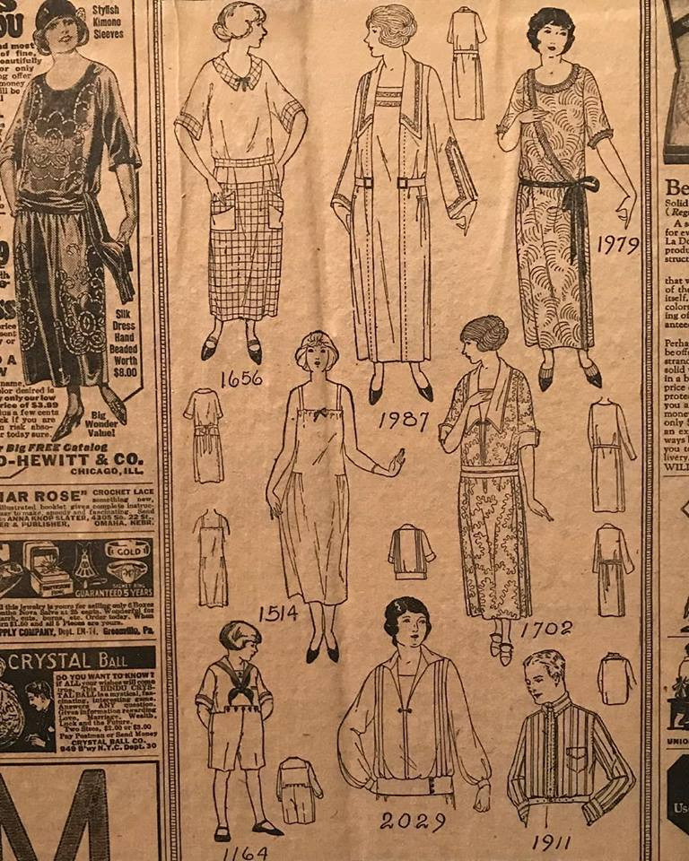 Vintage magazine tear-out of 20s-30s fashion