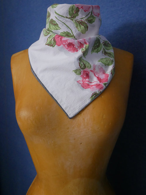 Red & Pink Rose Headscarf Neck Scarf