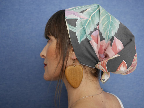 Tropical Floral Bandana Headscarf Neck Scarf