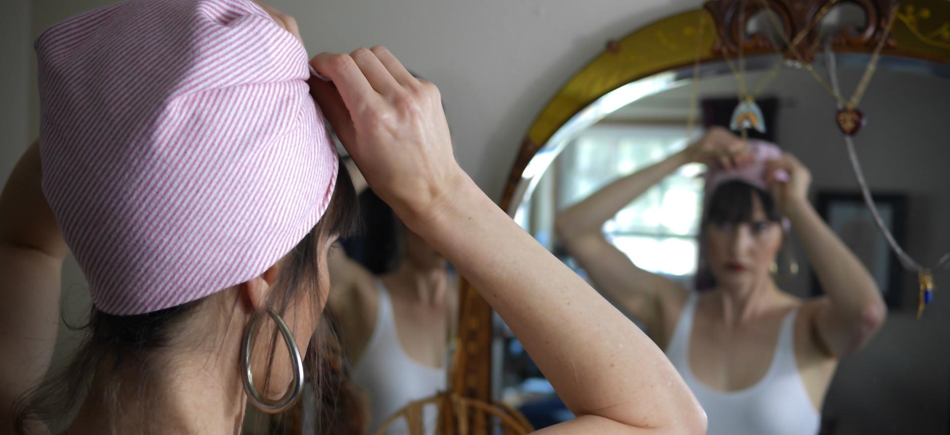 Vintage, Secondhand & Repurposed Fabric Headscarfs & Bandanas