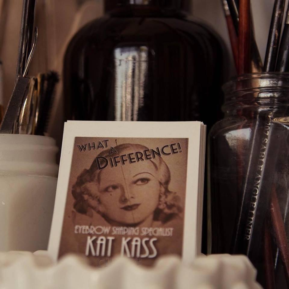 Eyebrow shaping artist Kat Kass