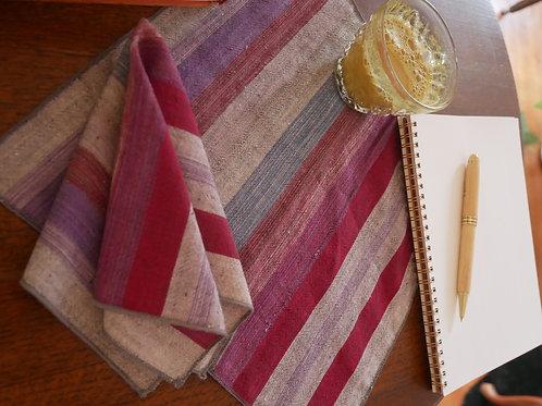 Multi Color Stripe Square Handkerchief / Napkin / Mini Bandana