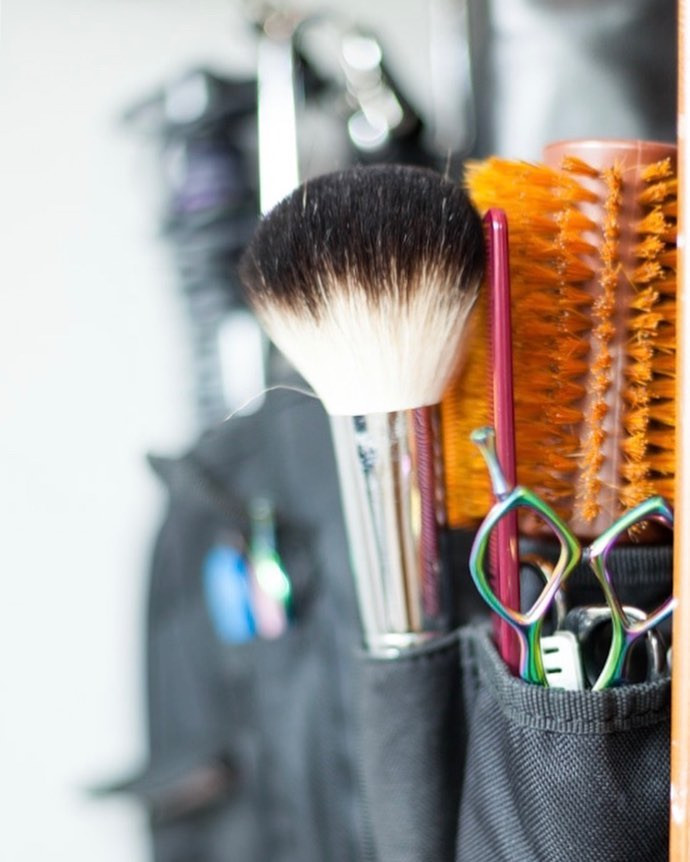 Kat Kass's hair styling tools