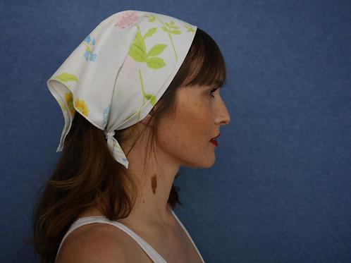 Vintage Floral Bandana Headscarf Neck Scarf