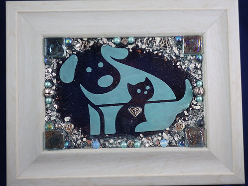 Dog& Cat love 5x7