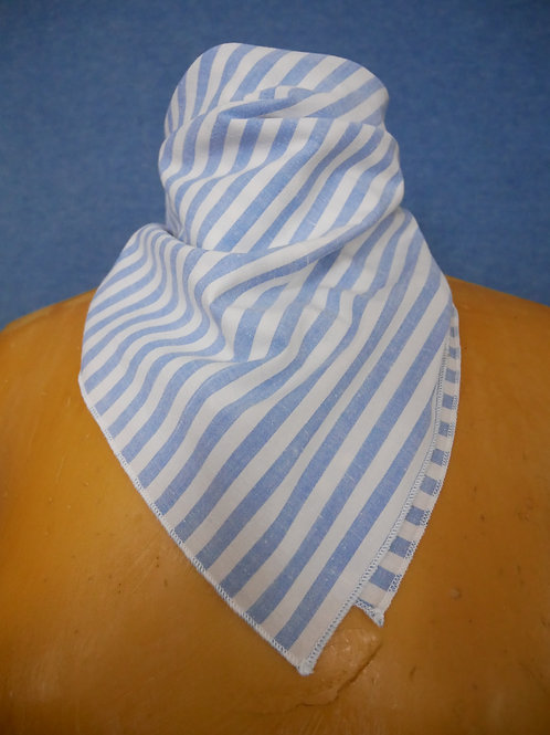 Nautical Blue & White Stripe Headscarf Neck Scarf