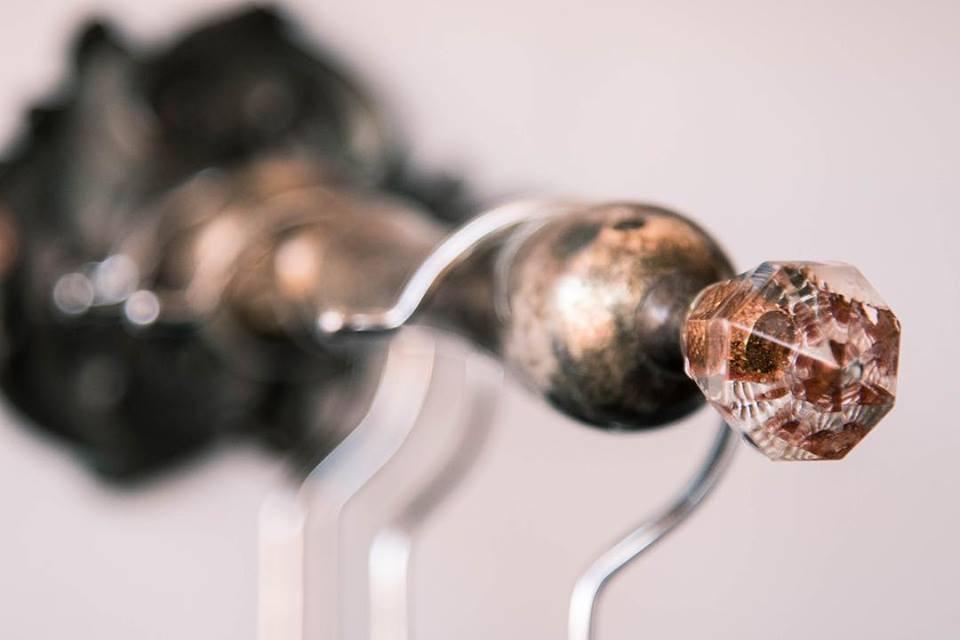 Vintage hook for retail display at La Mistinguette Studios
