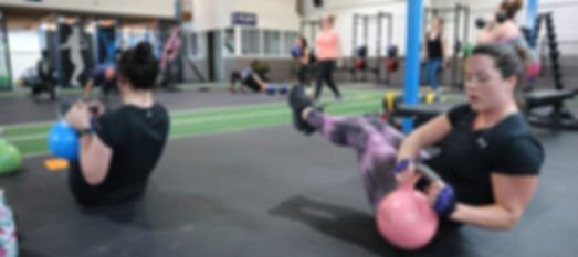 Women in the Fit Camp Spartans Warrior Zone of Kilsyth Gym